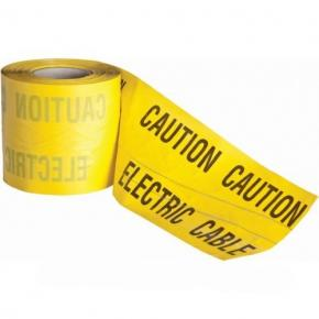 Tracer wire detectable underground warning tape