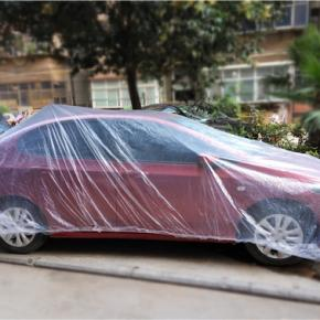 Temporary Disposable Plastic Car Cover