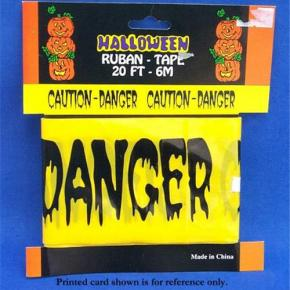 Haunted Fright Tape Halloween Banner Warning Tape